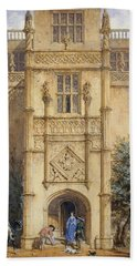 Porch At Montacute, 1842 Hand Towel