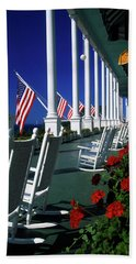 Porch Of The Grand Hotel, Mackinac Hand Towel