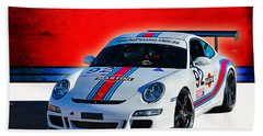 Porsche Gt3 Martini Bath Towel