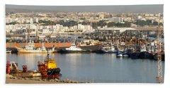 Port Of Agadir Morocco 1 Hand Towel