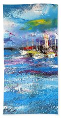 Port Reflections Bath Towel