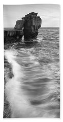 Portland Bill Seascape Bath Towel