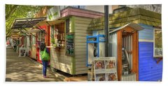 Portland Food Carts Hand Towel by David Bearden