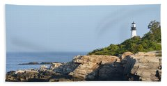 Portland Head Light In Summer Hand Towel