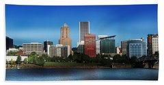 Hand Towel featuring the photograph Portland Oregon Skyline  by Aaron Berg