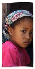 Portrait Of A Berber Girl Hand Towel by Ralph A  Ledergerber-Photography