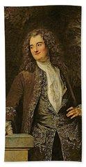 Portrait Of A Gentleman, Or Portrait Of Jean De Julienne Oil On Canvas Bath Towel