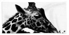 Portrait Of A Giraffe Hand Towel