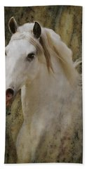 Portrait Of A Horse God Hand Towel by Melinda Hughes-Berland
