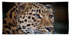 Portrait Of A Leopard Bath Towel
