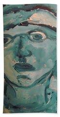 Portrait Of A Man Hand Towel