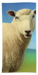 Portrait Of A Sheep Hand Towel