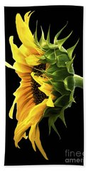 Portrait Of A Sunflower Bath Towel