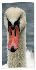Portrait Of A Swan Bath Towel