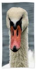 Portrait Of A Swan Hand Towel