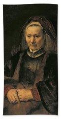 Portrait Of An Elderly Woman, C. 1650 Hand Towel
