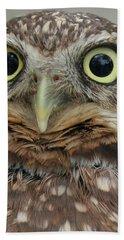 Portrait Of Burrowing Owl Bath Towel
