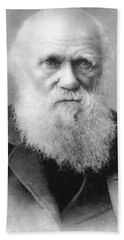 Portrait Of Charles Darwin Hand Towel
