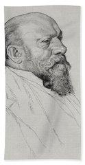 Portrait Of Hans Richter Bath Towel
