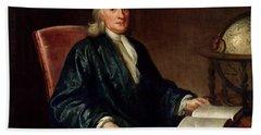 Portrait Of Isaac Newton Hand Towel