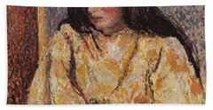 Portrait Of Jeanne, Circa 1893 Hand Towel