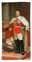 Portrait Of King Edward Vii Bath Towel