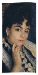 Portrait Of Madame Alphonse Daudet,1876  Hand Towel