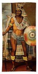 Portrait Of Montezuma II Bath Towel