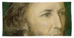 Portrait Of Robert Browning Hand Towel