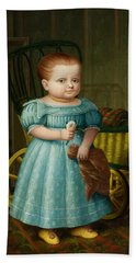 Portrait Of Sally Puffer Sanderson Hand Towel