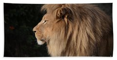 Portrait Of The King Of The Jungle  Bath Towel by Jim Fitzpatrick