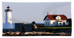 Portsmouth Harbor Light Hand Towel