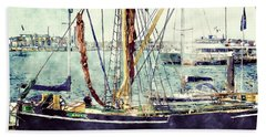 Portsmouth Harbour Boats Hand Towel