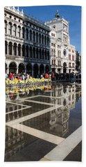 Hand Towel featuring the photograph Postcard From Venice by Georgia Mizuleva