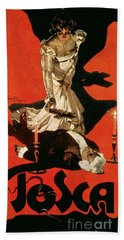 Poster Advertising A Performance Of Tosca Hand Towel