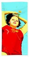 Hand Towel featuring the photograph Poster Girl 2 by Randi Grace Nilsberg