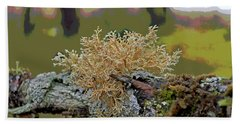 Posterized Antler Lichen Bath Towel by Cathy Mahnke