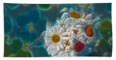 Pot Of Daisies 02 - S11bl01 Hand Towel by Variance Collections
