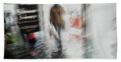 Hand Towel featuring the photograph Pounding The Pavement by Alex Lapidus