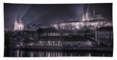 Prague Castle And St Nicholas Bath Towel