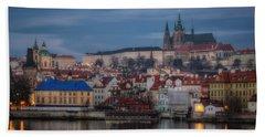 Prague Castle Dawn Bath Towel