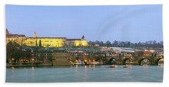 Prague Castle Prask Hrad And Charles Bath Towel