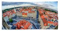 Prague From Above Bath Towel