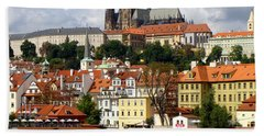 Bath Towel featuring the photograph Prague Skyline by Ira Shander