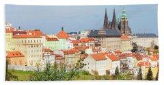 Prague - View Of Hradcany Castle Bath Towel