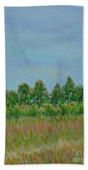 Prairie Morning Light Hand Towel by Gail Kent