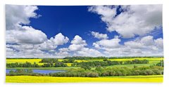 Prairie Panorama In Saskatchewan Bath Towel