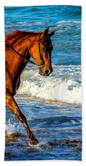 Prancing In The Sea Bath Towel by Shannon Harrington