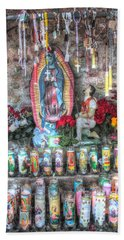 Prayers To Our Lady Of Guadalupe Bath Towel by Lanita Williams