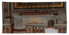 Praying To Pope John Paul II  Hand Towel